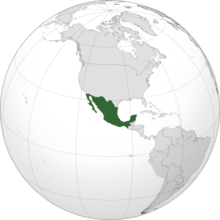 Location of Mexico