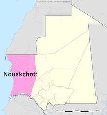 Location of Nouakchott