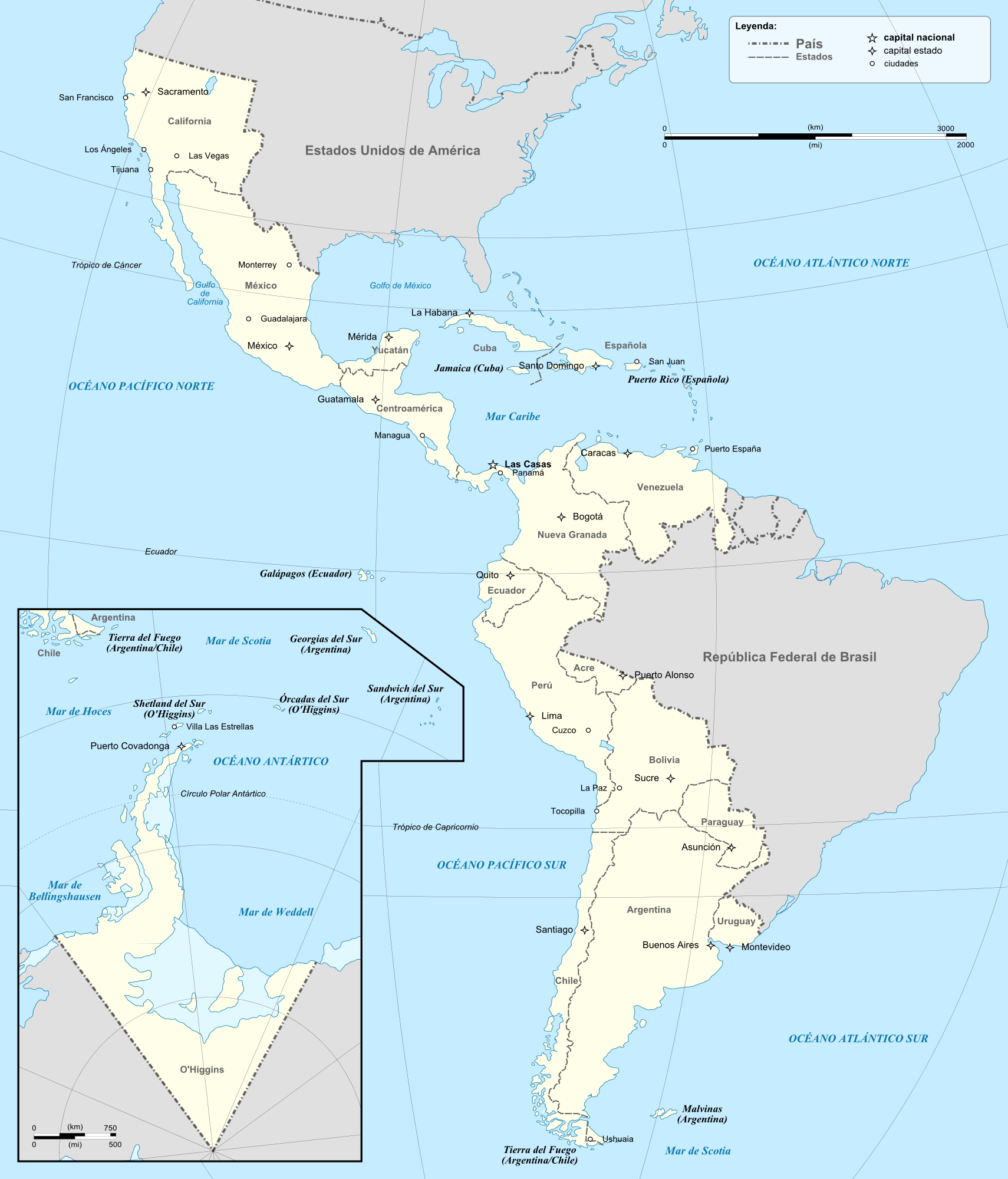 States of Colombia (Bolivar's Dream)