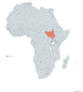 SUDAN DEL SUR MAPA 1993 LGMS