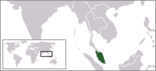 Location of Malayan Union