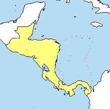Localización de Centroamérica