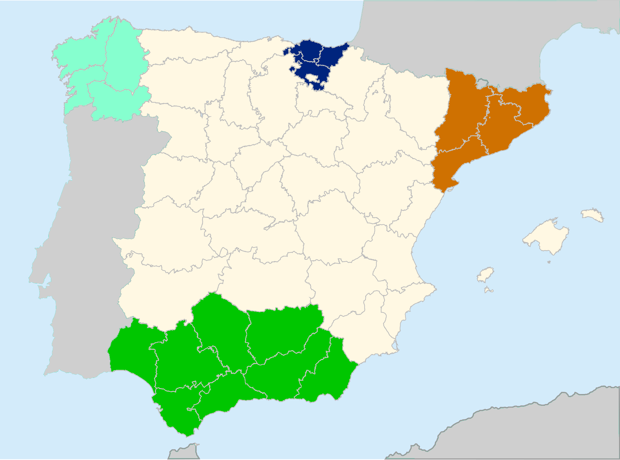 Administrative division of Spain (Twilight of a New Era)