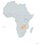 ZAMBIA MAPA 1993