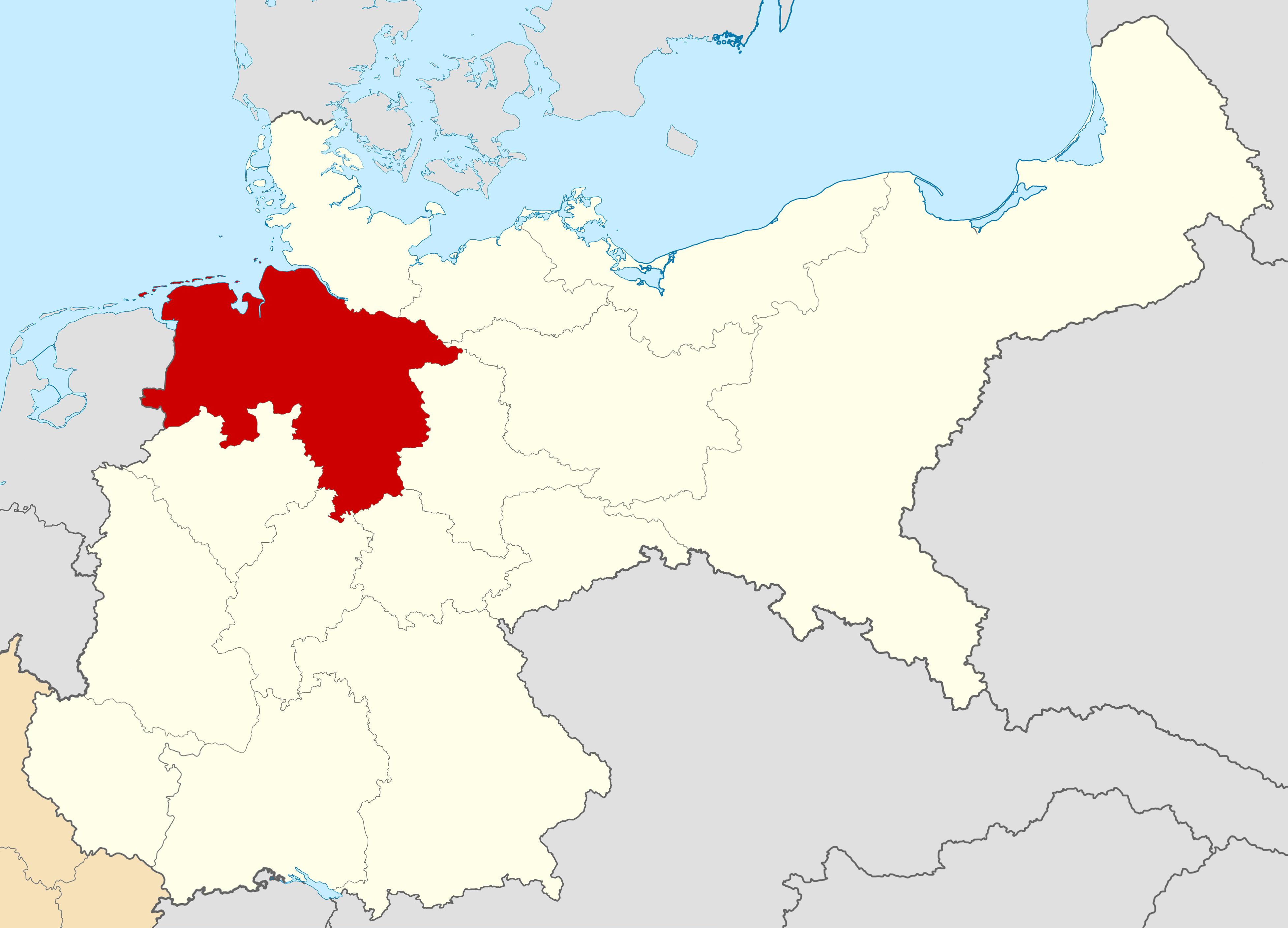 Baja Sajonia (Gran Imperio Alemán)