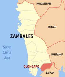 Map of City of Olongapo