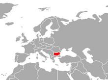 Localización de Bulgaria