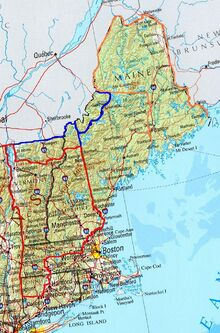 Location of Vermont