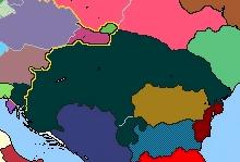 Location of Kingdom of Hungary