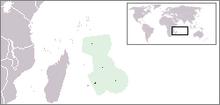 Location of Mauritus