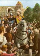 The return of Vittorio Emmanuel I to Turin