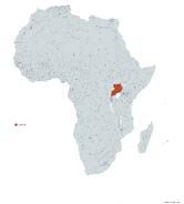 UGANDA MAPA 1993 LGMS