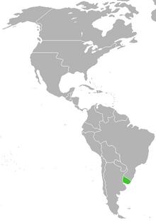 Localización de República Oriental del Uruguay