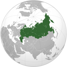 Location of Russian Federation