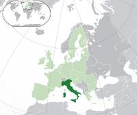 Localización de Italia