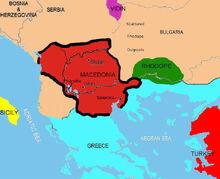 Location of Macedonia