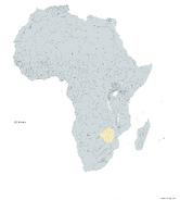 ZIMBABUE MAPA 1993 LGMS