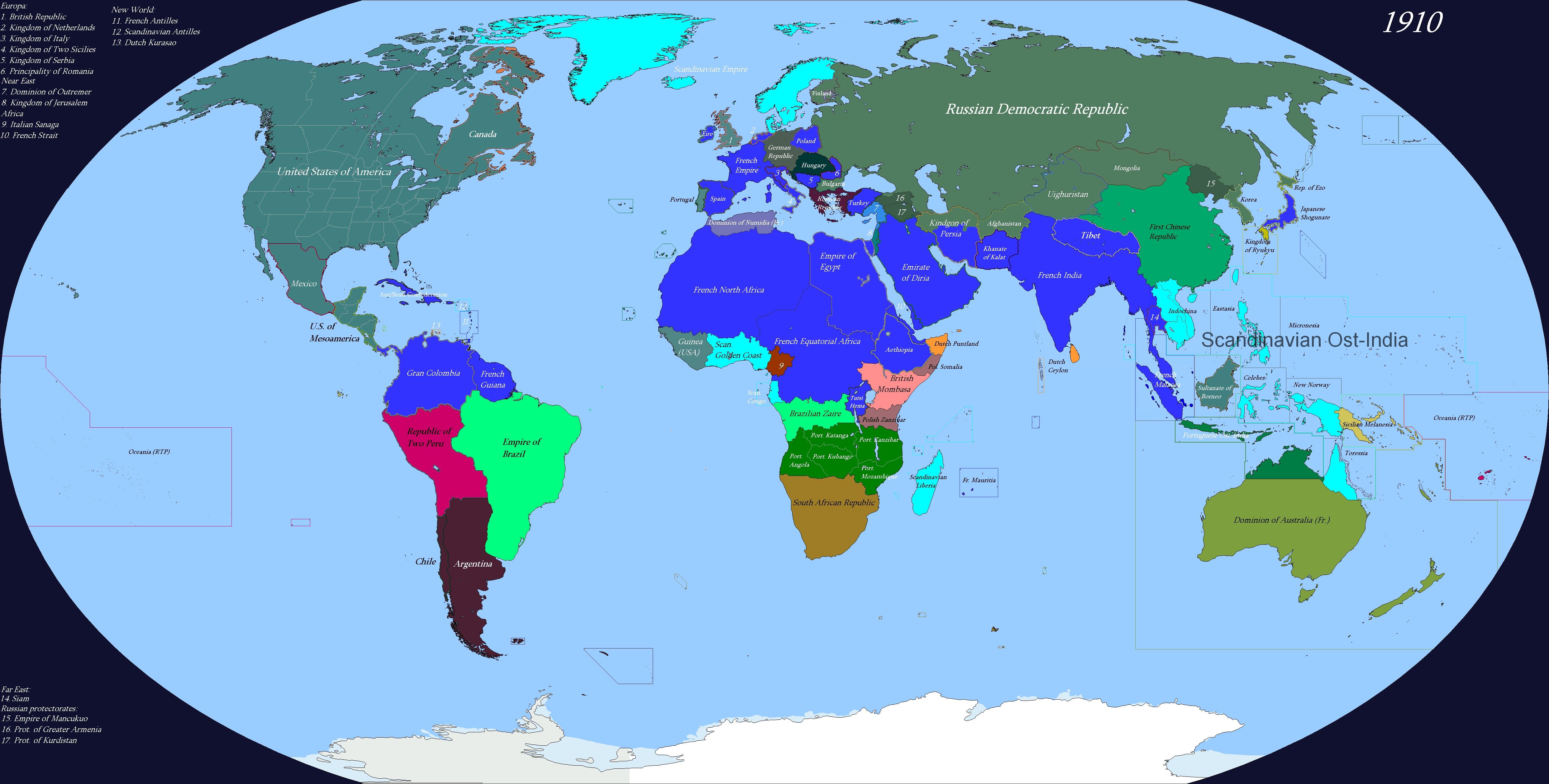 Карта МиОВ 1: перед ПМВ