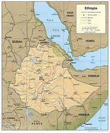 Location of People's Republic of Ethiopia