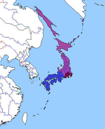 Map of Japan 2000 (Yellowstone 1935).png