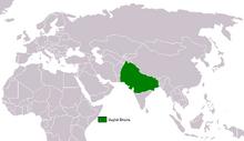 Location of Hindustani Empire