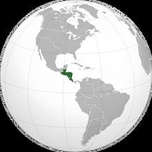 Localización de Provincias Unidas de Centroamérica (NT)
