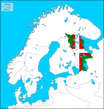 Karelia w. Flag (The Kalmar Union).png
