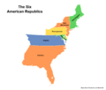 Map of the American Republics (13 Fallen Stars)