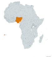 NIGERIA MAPA 1993 LGMS