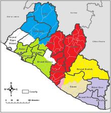 Location of Monrovia