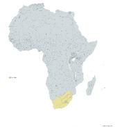 SUDAFRICA MAPA 1993 LGMS