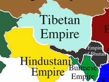 Location of Tibetan Empire