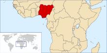Location of Federal Republic of Nigeria