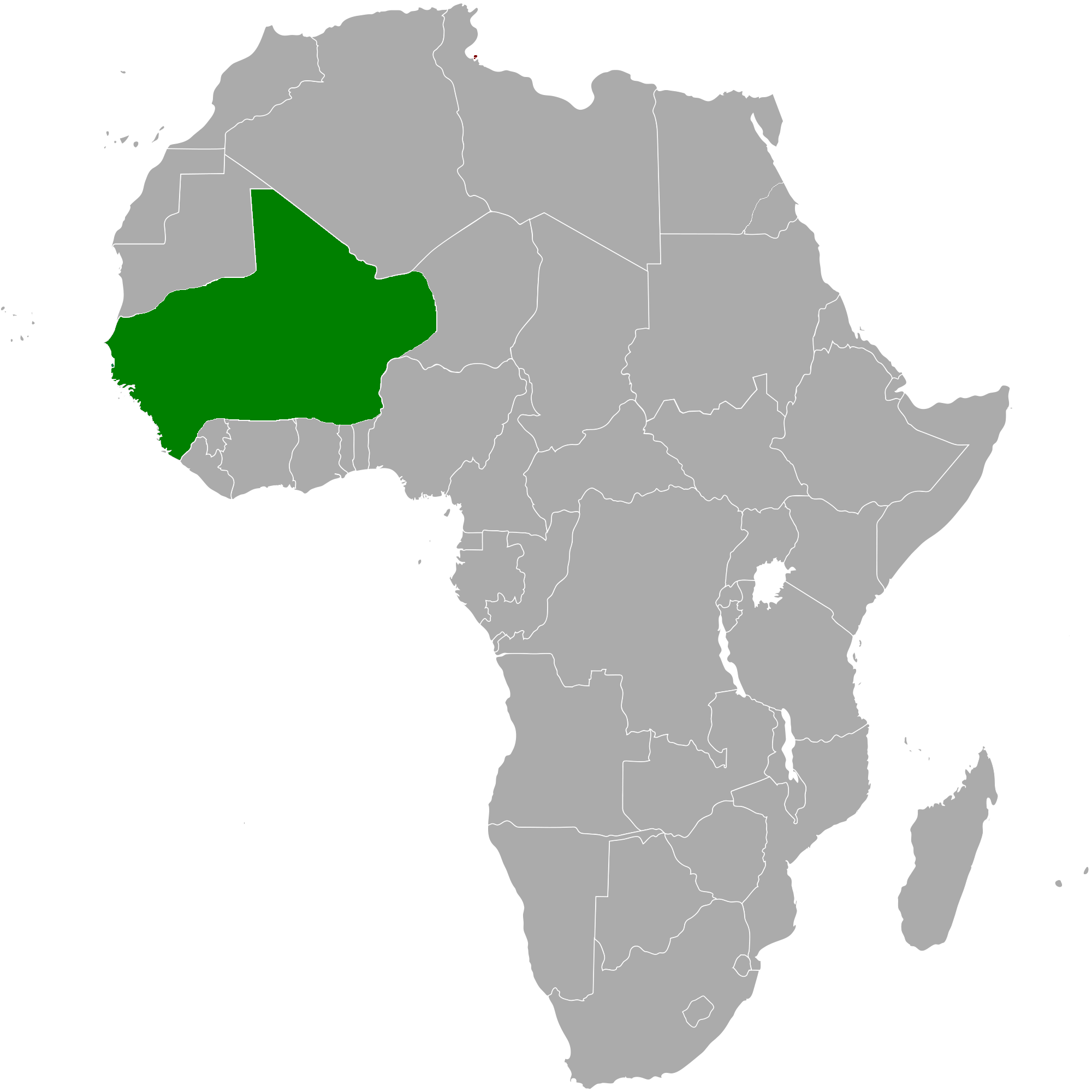 Map of Africa with Songhai highlighted.png