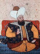 Sultan Murad II, portrait from 19th century manuscript