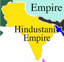 Location of Hindustani Empire India