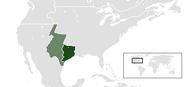 Location of Republic of Texas