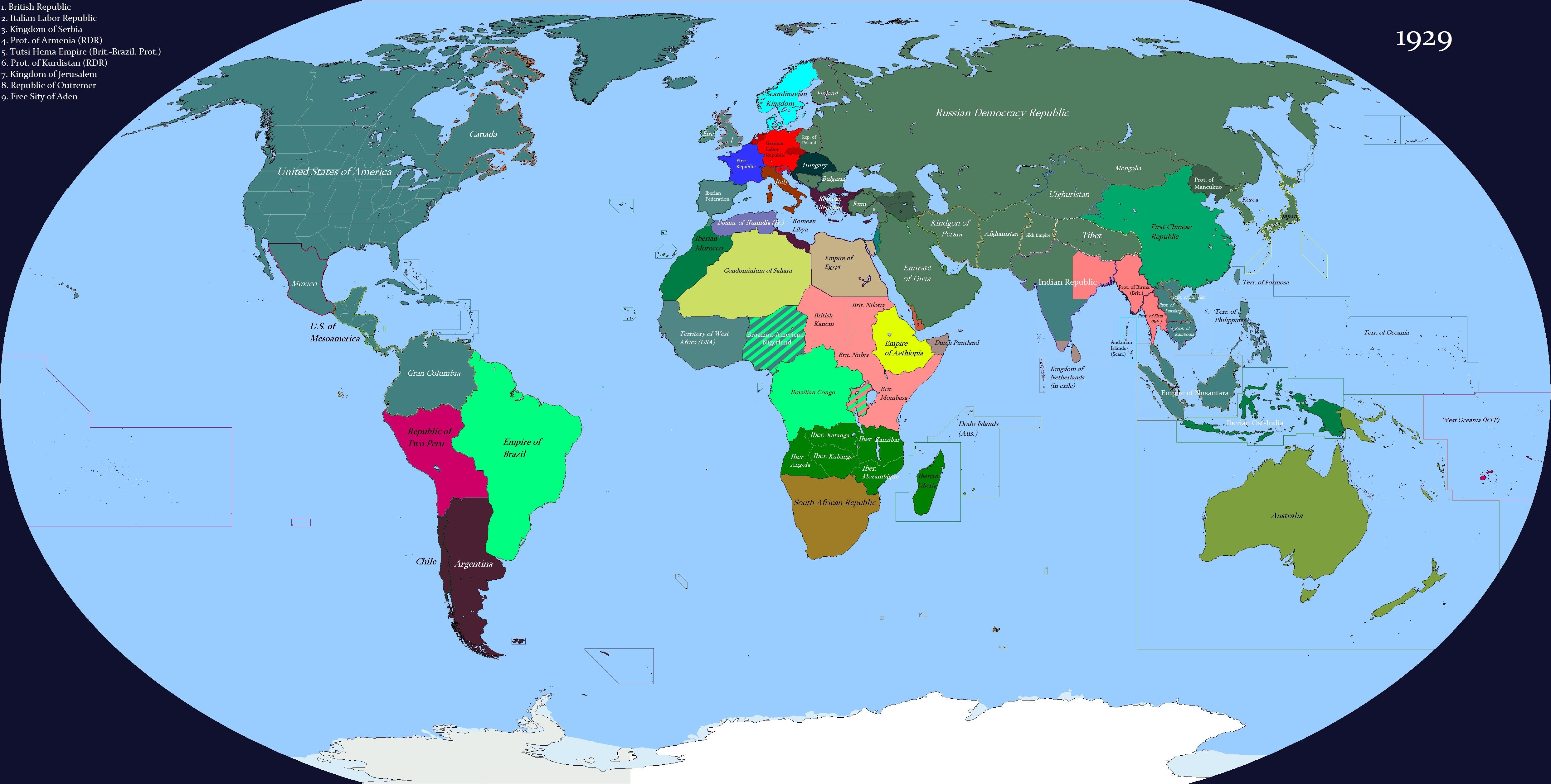 Карта МиОВа 2: Интербеллум