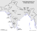 Map of the Indian Subcontinent (13 Fallen Stars)