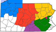 Location of Gettysburg