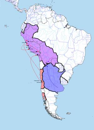Mapa Sudamerica en 1837 Presidente Portales Guerra de la Confederación.png