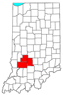 Location of State of Bloomington