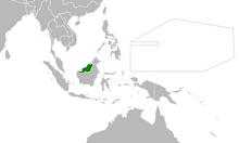 Location of Kingdom of Sarawak