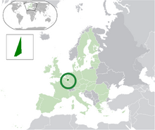 Location of Moresnet