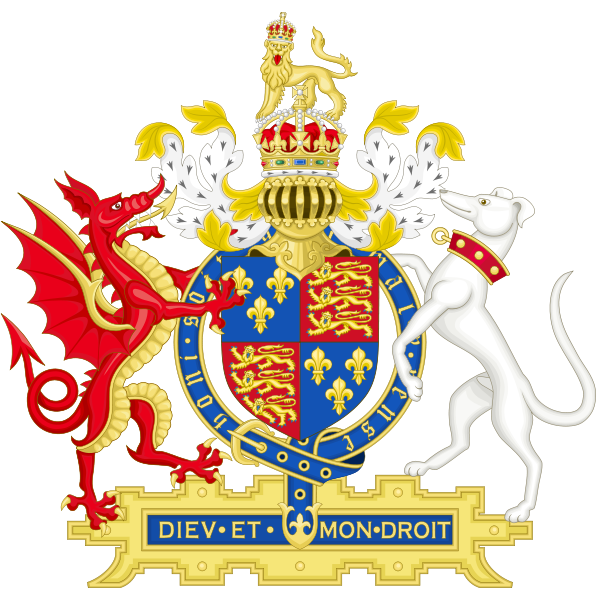 Coat of Arms of Henry VIII of England (1509-1547) Early reign.png