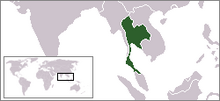 Location of Thailand