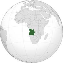 Localización del República de Angola
