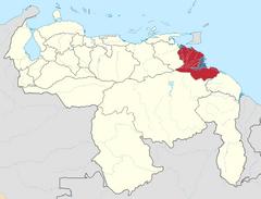 Ubicación de Estado Delta Amacuro (Chile No Socialista)