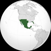 Localización de México