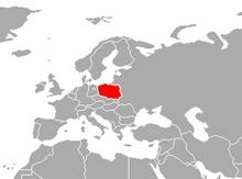 Localización de Polonia